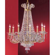 beaded leaf 8 light crystal chandelier crystal drops clear swarovski strass finish olde gold