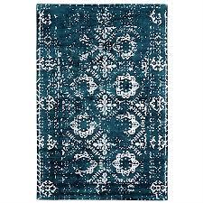 design republique distressed pattern handloom rug
