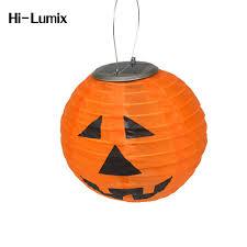 Pumpkin Yard Light Cover Us 12 0 32 Off Hi Lumix 2pc Or 4pc Solar Hanging Led Light Pumpkin 205mm Lantern Halloween Decorative Lighting For Garden Party Yard Warmwhite In