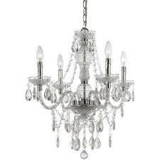 naples 4 light clear mini chandelier