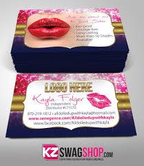 Senegence Business Cards Style 3 Kz Swag Shop