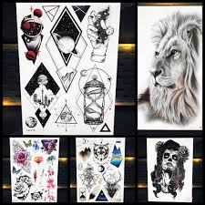 3d для мужчин популярные временные татуировки геометрическая вселенная для