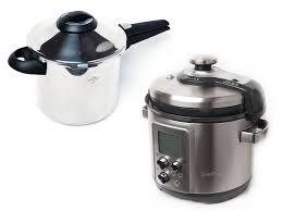kuhn rikon stovetop pressure cooker and breville fast slow pro electric pressure cooker