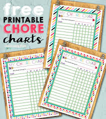 Free Chore List Charts Free Printable Chore Charts I Should Be Mopping The Floor
