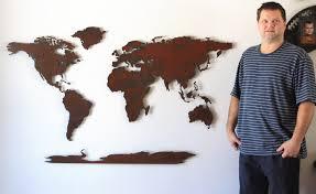 world map metal wall art india