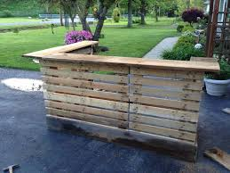 outside pallet furniture. bar made from upcycled pallets and 200 year old barn wood please see other pics outside pallet furniture