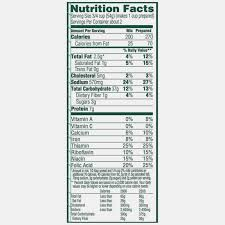 Lucky Charms Nutrition Label World Of Reference