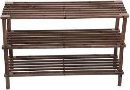 feelings 3 layer wooden shoe rack brown rj 1003