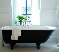 cast iron bath used as focus point of bathroom design