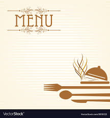 Template For Menu Card With Cutler