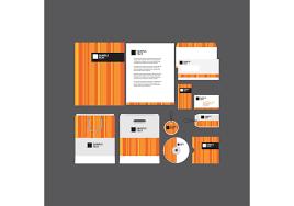 vector company profile template vector art orange striped company profile template