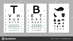 Child Eye Test Chart Eyes Test Chart Stock Vector Olhayerofieieva 178755498