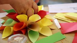 How To Make Paper Cones For Flower Petals Origami Handmade Stock Video Video Of Craft Decoration 76899087