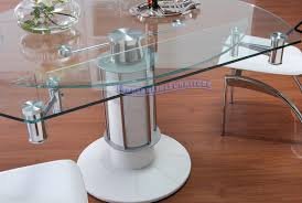 adorable round extendable glass dining table design furniture home