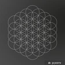 Nálepka Květ života Geometrického Tvaru Pérovky Designu Tetování Pixerstick