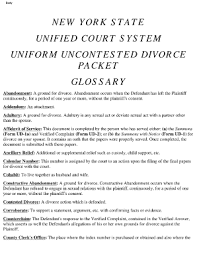Form The Uncontested Divorce Process Without Children Packet