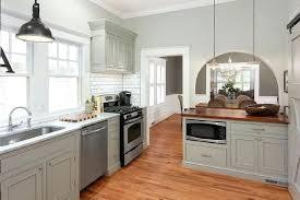 grey cabinets wood countertops gray kitchen peninsula with butcher block grey countertops light wood cabinets