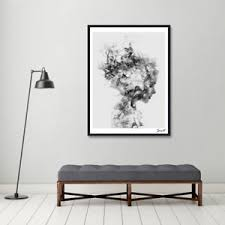 image is loading modern nordic decor black white girl poster canvas  on black white wall art deco with modern nordic decor black white girl poster canvas wall art painting