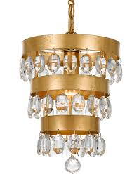 crystorama perla 1 light antique gold mini chandelier