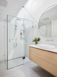 modern bathroom design pictures. Inspiration For A Modern Bathroom In Melbourne With Flat-panel Cabinets, Yellow Design Pictures