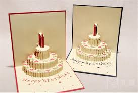 3d Card Birthday Cake 3d Pop Up Gift Greeting 3d Blessing Cards