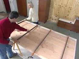 use bar clamps to snug boards tightly together