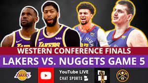 lakers vs nuggets live nba playoffs
