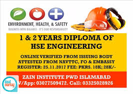 get diploma of hse engineering after a month education classes  get diploma of hse engineering after a month education classes in islamabad pk