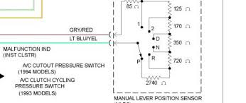 1994 ford e series van wiring for neutral safety switch the neutral safety switch is the manual lever position sensor see below circuit