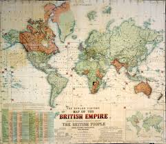 the victorian age and the british empire samfunnsfaglig engelsk  the howard vincent map of the british empire