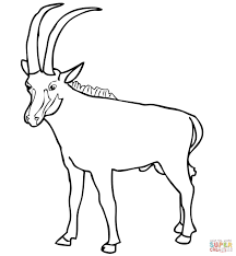 Small Picture Sable Antelope coloring page Free Printable Coloring Pages