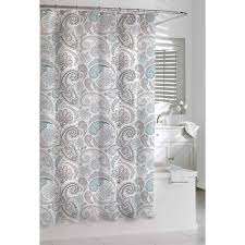 kassatex paisley shower curtain blue grey 72 by create a sophisticated spa inspired bath with a cotton waffle weave shower curtain