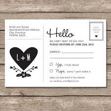 Wedding Rsvp Postcard Printable Pdf Garden Whimsy Places To