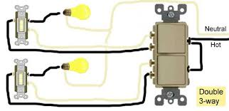 how to wire switches double 3 way switch wiring