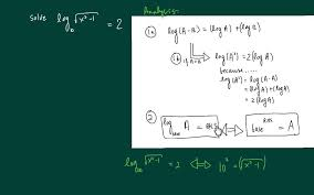 how to solve a logarithmic equation with a square root