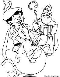 Zwarte Piet En Sinterklaas Kleurplaat