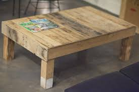 image of rustic pallet coffee table