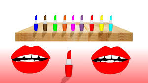 Learn Colors With Coloring Lipstick Make Up Drawing Art Colors