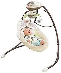 Amazon.com : Fisher-Price Snugabunny Cradle 'n Swing with Smart ...