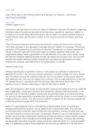 Different Types Of Resume Samples Types Of Resumes Resume Templates 20