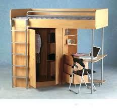 loft desk simple wood loft bed with corner computer desk cloth closet storage and built in metal ladder loft bed desk dresser