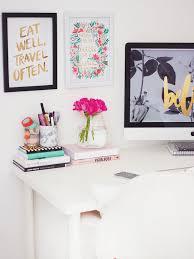 cute home office ideas. bright office via kate la vie cute home ideas h