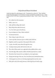 Prepositions And Prepositional Phrases Worksheets Free Worksheets ...