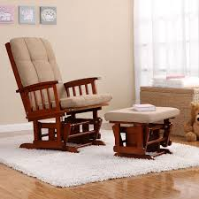 baby relax glider rocker and ottoman dark oak nursery furniture living room furniture s stylish wooden detail on glider arms provide a comfortable