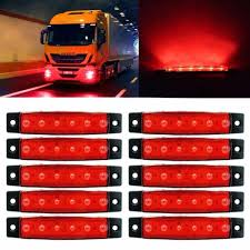 10x6 Led Trailer Indicator Zijmarkeringslichten Bus Klaring Lamp 12