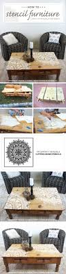 cutting edge furniture. cutting edge stencils shares how to stencil a wood table using the prosperity mandala pattern furniture j