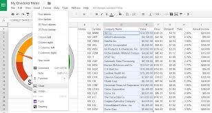 How To Create A Dividend Tracker Spreadsheet Dividend Meter