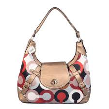 Coach Turnlock Large Gold Hobo BAC