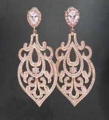 rose gold wedding earrings rose gold chandelier earrings bridal earrings wedding jewelry art deco earrings statement earrings amelia new