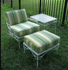 wrought iron patio furniture vintage. Vintage Metal Furniture Patio Mulberry Street Antique Wrought Iron Redwood Cushions T